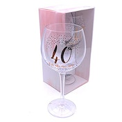 Luxe Birthday Gin Glass with Rose Gold Foil - 40