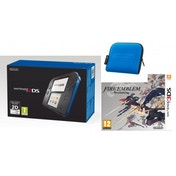 Nintendo 2DS Handheld Console Blue & Black UK Plug with Blue Carry Case & Fire Emblem Awakening