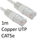 RJ45 (M) to RJ45 (M) CAT5e 1m White OEM Moulded Boot Copper UTP Network Cable - Image 2