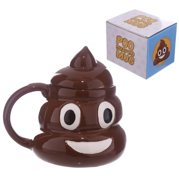 Fun Collectable Ceramic Poop with Lid Emotive Mug