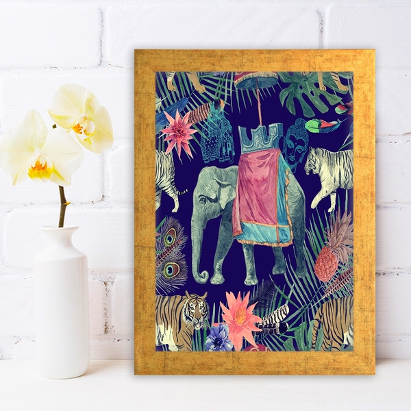 AC667981087 Multicolor Decorative Framed MDF Painting
