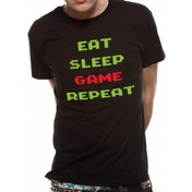 CID Originals - Game Repeat Men's Large T-Shirt - Black