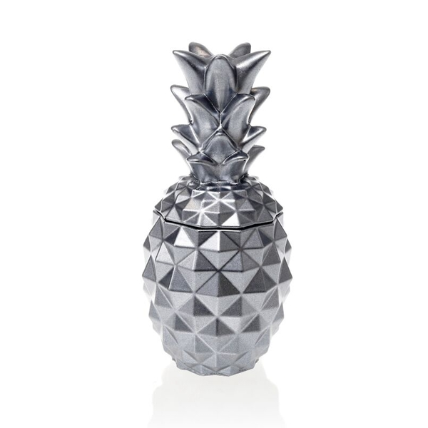 Silver Concrete Pineapple For Her Candle