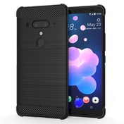 CASEFLEX HTC U12 PLUS CARBON ANTI FALL TPU CASE - BLACK