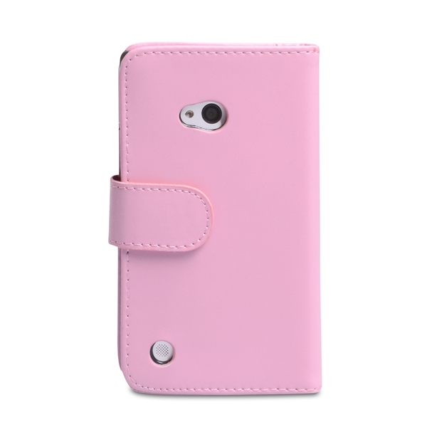 YouSave Accessories Nokia Lumia 720 Leather-Effect Wallet Case - Baby Pink - Image 2