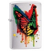 Zippo Butterfly Classic Brushed Chrome