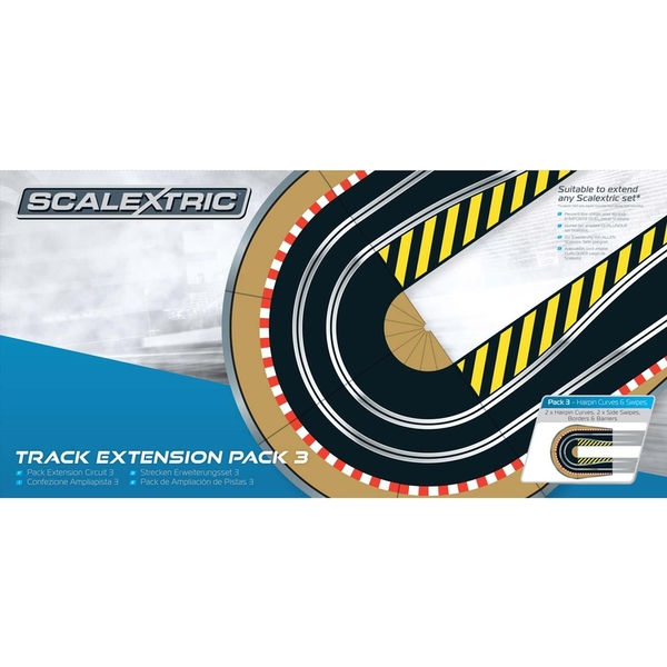 Hairpin Curve Track Extension Pack 3 Scalextric Accessory Pack