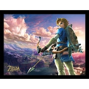 The Legend of Zelda: Breath of the Wild - Hyrule Scene Landscape Framed 30 x 40cm Print