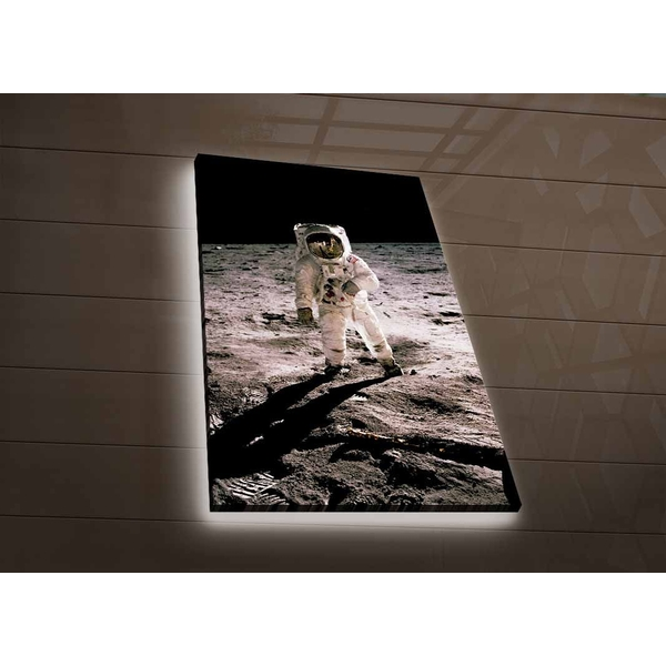 NASA-047 Multicolor Decorative Led Lighted Canvas Painting