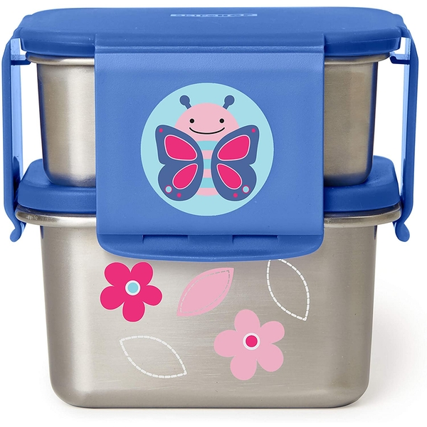 Skip Hop Stainless Steel Butterfly Lunch Kit