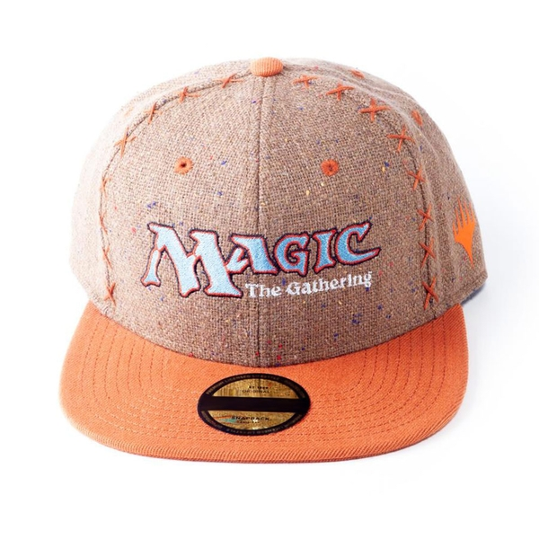 Hasbro - Magic: The Gathering Logo Core Unisex Snapback Baseball Cap - Brown/Orange