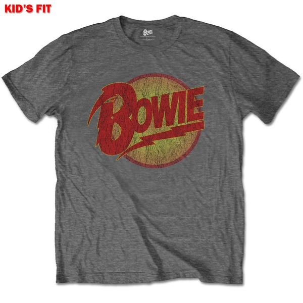 David Bowie - Diamond Dogs Logo Kids 5 - 6 Years T-Shirt - Grey