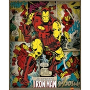 Marvel Comics - Iron Man (retro) Mini Poster