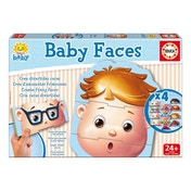 EDUCA Baby Early Learning Faces Jigsaw Puzzle 4 Sets of 3 Pieces