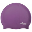 SwimTech Silicone Swim Cap Purple