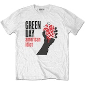 Green Day - American Idiot Men's X-Large T-Shirt - White