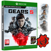Gears 5 Xbox One Game (with Bonus DLC, Post Cards and Keyring)