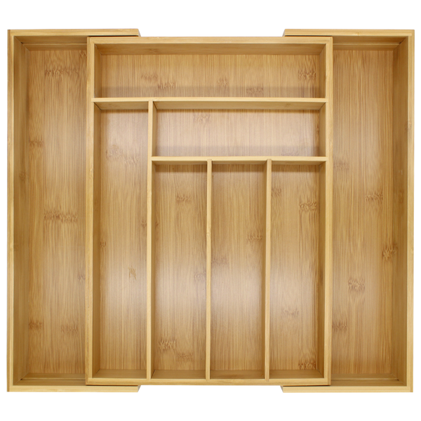 Bamboo Extending Cutlery Drawer Tray | M&W - Image 3
