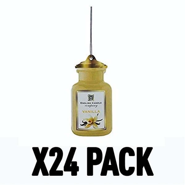 Vanilla 2D (Pack Of 24) English Candle Air Freshener