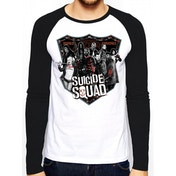 Suicide Squad 'Group Shot' Men's Small Baseball Shirt - White