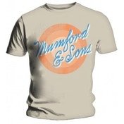 Mumford & Sons Sun Script Mens White T Shirt: Small