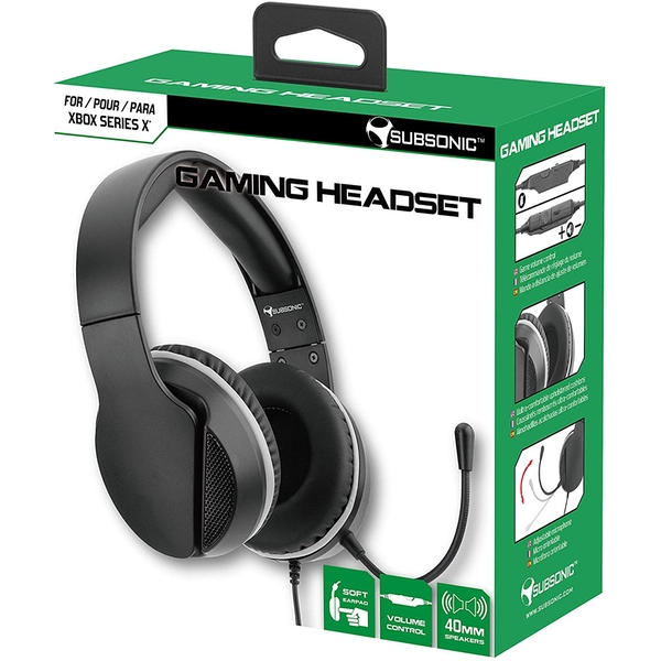 Subsonic Black Gaming Headset with Microphone for Xbox Series X