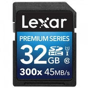 Lexar Premium Series 32 GB Class 10 SDHC 300x Speed Platinum II U1 Memory Card