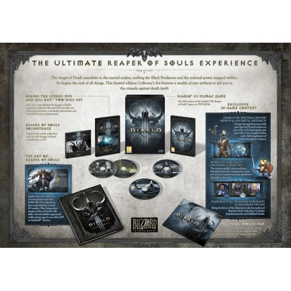 Diablo III (3) Reaper of Souls Collector's Edition Game PC & Mac - Image 1
