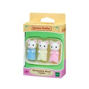 Sylvanian Families Mice Marshmallow Triplets