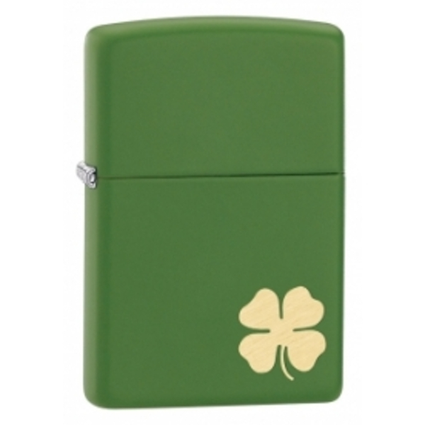 Zippo Shamrock Moss Green Matte Windproof Lighter - Image 1