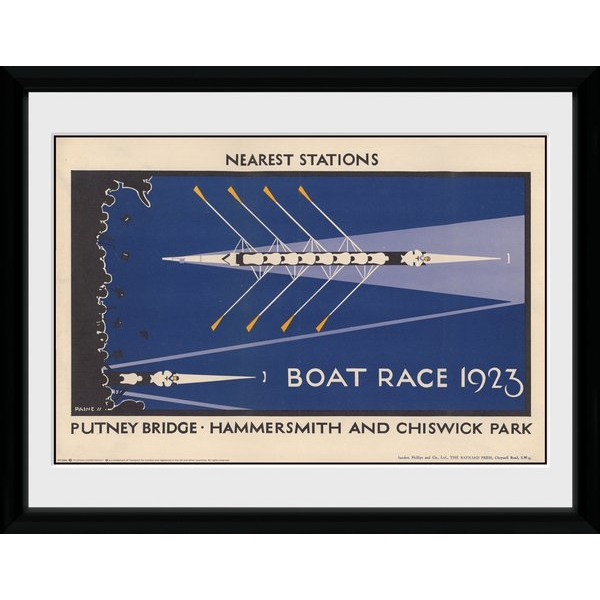 """Transport For London Boat Race 12"""" x 16"""" Framed Collector Print"""