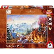 Thomas Kinkade Disney Ice Age 1000 Piece Jigsaw Puzzle