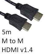 HDMI 1.4 (M) to HDMI 1.4 (M) 5m Black OEM Display Cable