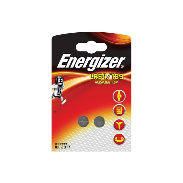 Energizer LR54/189 Alkaline Coin Cell Batteries - Pack of 2