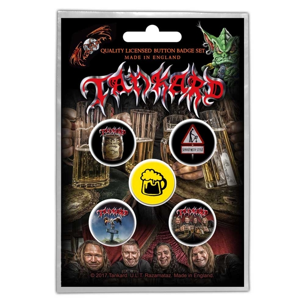 Tankard - One Foot in the Grave Button Badge Pack