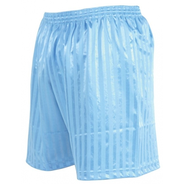 Precision Striped Continental Football Shorts 34-36 inch Sky Blue