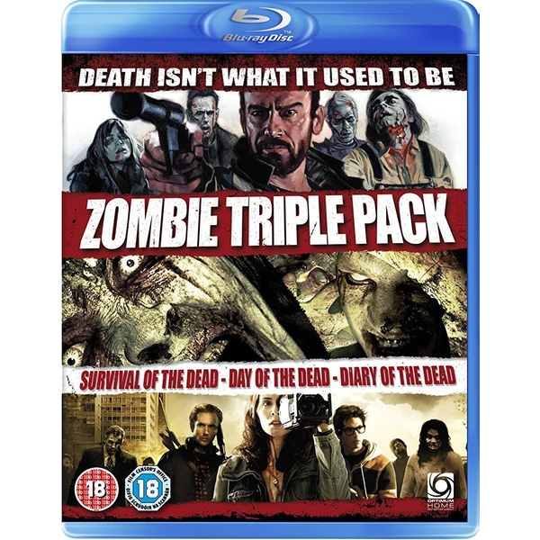 Zombie Triple (Survival Of The Dead/Day of The Dead (Remake)/Diary of The Dead) Blu-ray