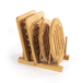 Set of 4 Bamboo Trivets with Storage Rack | M&W - Image 3