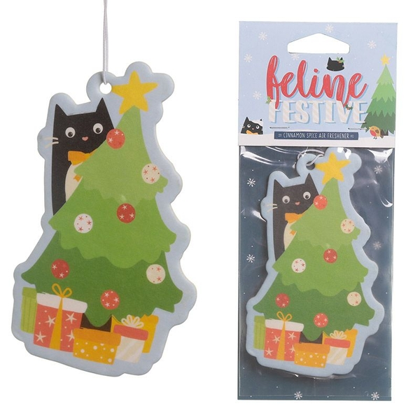 Nutmeg Scented Christmas Cat Festive Feline (Pack Of 6) Air Freshener