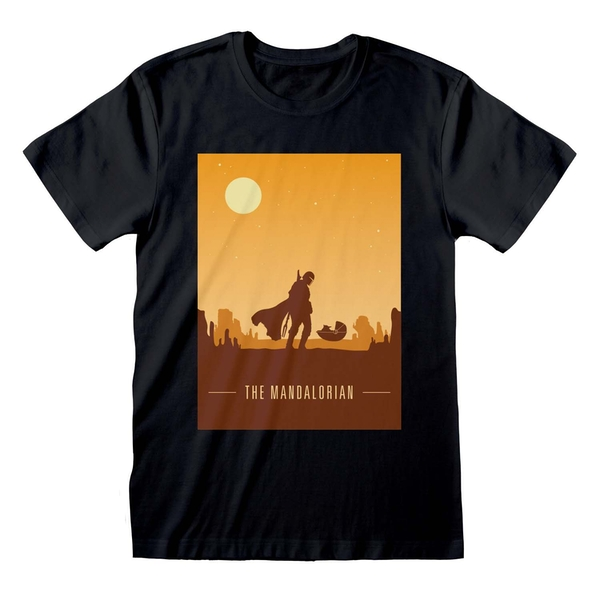 Mandalorian - Retro Poster Unisex Small T-Shirt - Black