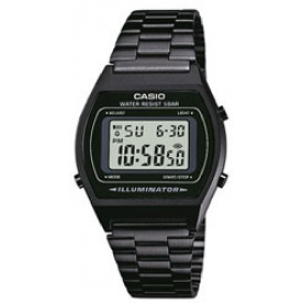 Casio B640WB-1AEF Classic Digital Watch with Stainless Steel Band Black