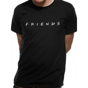 Friends - Logo Men's Large T-Shirt - Black