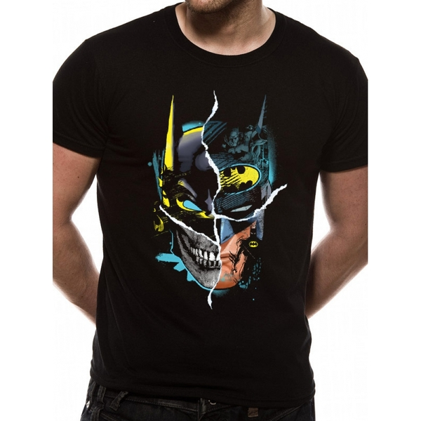 Batman - Gotham Face Men's Large T-Shirt - Black