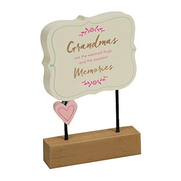 Grandmas Are The Warmest Hugs Wooden Desk Plaque