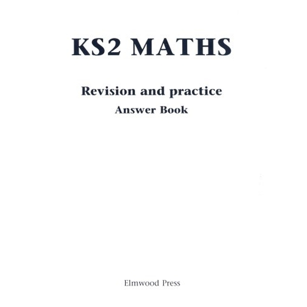 KS2 Maths Revision and Practice Answer Book: Answer Book by David Rayner (Paperback, 1998)