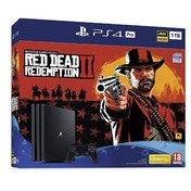 (Trade Special) PlayStation 4 Pro (1TB) Black Console with Red Dead Redemption 2