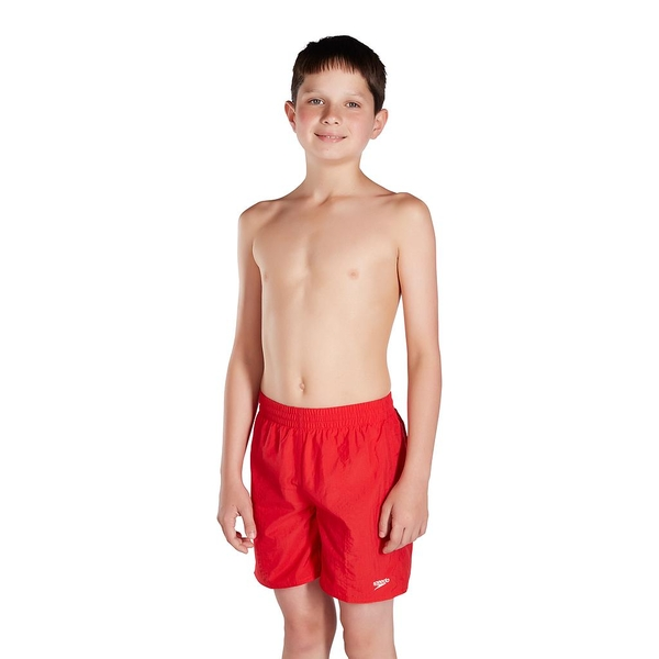 Speedo Boys Solid Leisure Shorts 15 Junior Red - Large