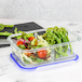 Set of 4 Glass Meal Prep Containers| M&W 2 Compartment - Image 2