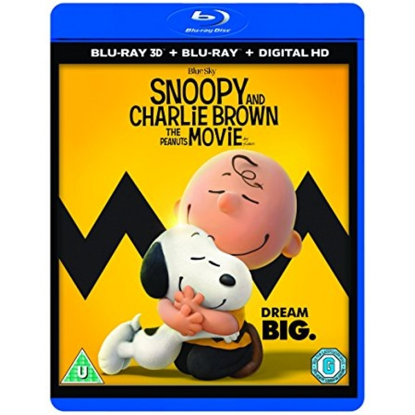 Snoopy And Charlie Brown The Peanuts Movie 3D Blu-ray