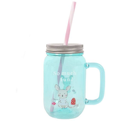 Marvin Turquoise Drinking Jar